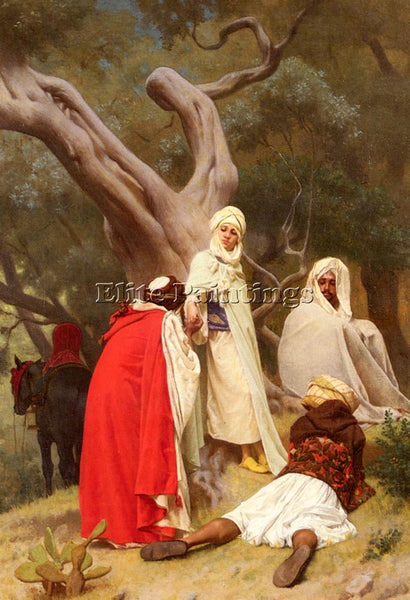 GUSTAVE CLARENCE RODOLPHE BOULANGER RECEPTION OF AN EMIR ARTIST PAINTING CANVAS