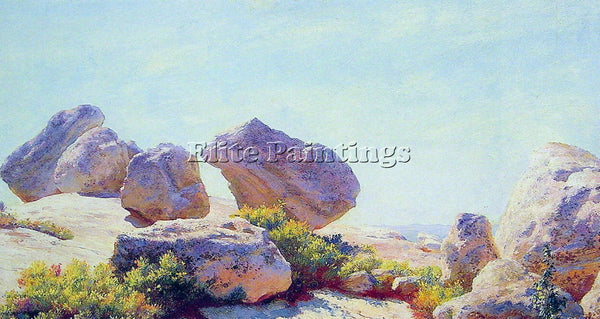 CHARLES COURTNEY CURRAN BOULDERS ON BEAR CLIFF ARTIST PAINTING REPRODUCTION OIL