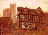 BRITISH BOYCE GEORGE PRICE CHURCH AND ANCIENT UNINHABITED HOUSE LUDLOW PAINTING