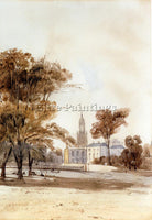 BRITISH BOYS THOMAS SHOTTER ST ALPHAGE CHURCH FROM THE PARK GREENWICH ARTIST OIL