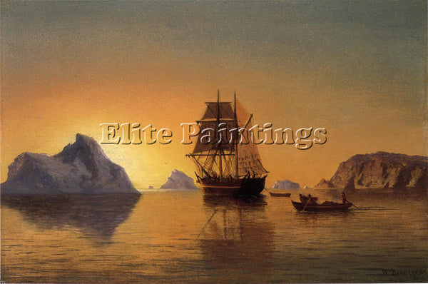 WILLIAM BRADFORD AN ARCTIC SCENE ARTIST PAINTING REPRODUCTION HANDMADE OIL REPRO