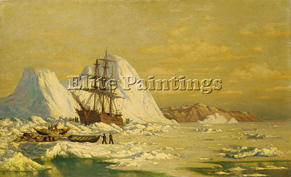 WILLIAM BRADFORD AN INCIDENT OF WHALING ARTIST PAINTING REPRODUCTION HANDMADE