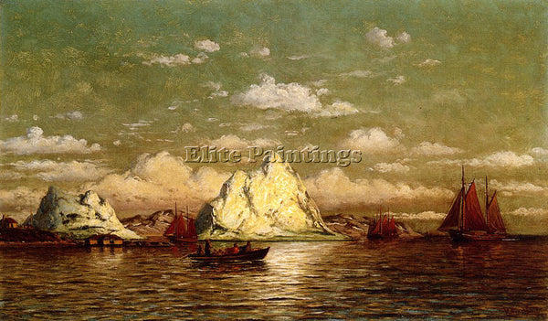 WILLIAM BRADFORD ARCTIC HARBOR ARTIST PAINTING REPRODUCTION HANDMADE OIL CANVAS