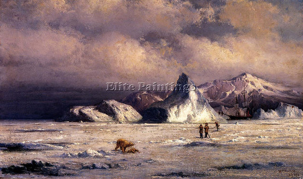 WILLIAM BRADFORD ARCTIC INVADERS ARTIST PAINTING REPRODUCTION HANDMADE OIL REPRO