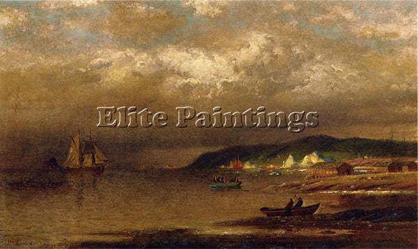 WILLIAM BRADFORD COAST OF NEWFOUNDLAND ARTIST PAINTING REPRODUCTION HANDMADE OIL