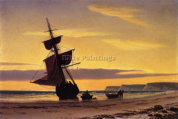 WILLIAM BRADFORD COASTAL SCENE ARTIST PAINTING REPRODUCTION HANDMADE OIL CANVAS