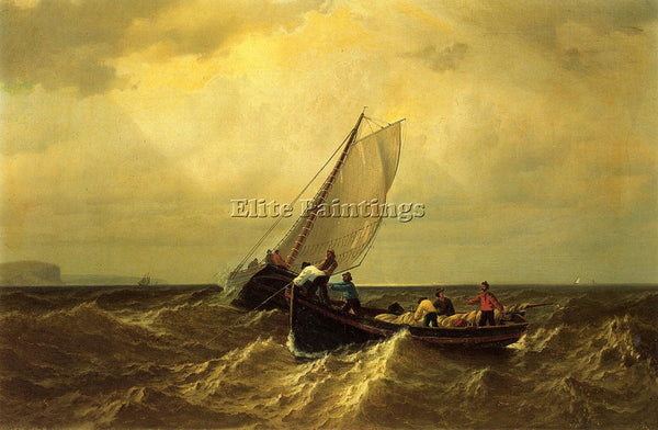 WILLIAM BRADFORD FISHING BOATS ON THE BAY OF FUNDY ARTIST PAINTING REPRODUCTION