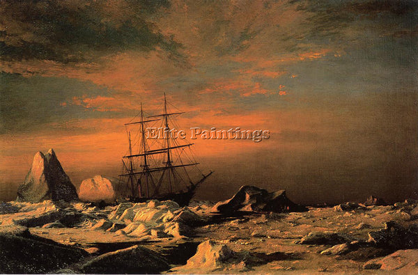 WILLIAM BRADFORD ICE DWELLERS WATCHING THE INVADERS ARTIST PAINTING REPRODUCTION
