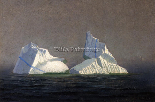 WILLIAM BRADFORD ICEBERGS ARTIST PAINTING REPRODUCTION HANDMADE OIL CANVAS REPRO