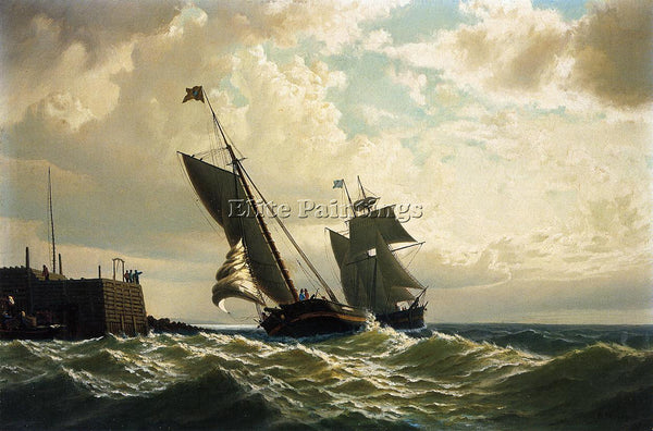 WILLIAM BRADFORD MAKING HARBOR ARTIST PAINTING REPRODUCTION HANDMADE OIL CANVAS
