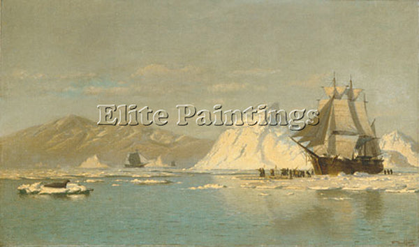 WILLIAM BRADFORD OFF GREENLAND ARTIST PAINTING REPRODUCTION HANDMADE OIL CANVAS
