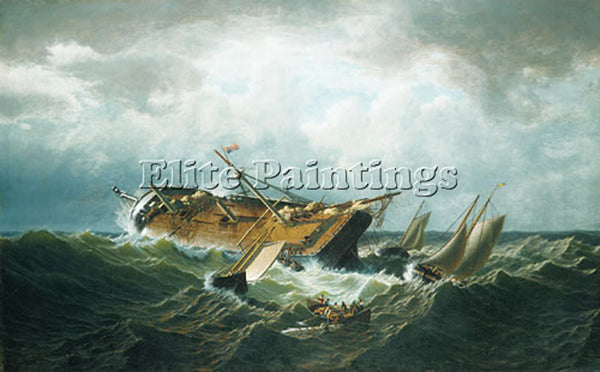 WILLIAM BRADFORD SHIPWRECK OFF NANTUCKET ARTIST PAINTING REPRODUCTION HANDMADE