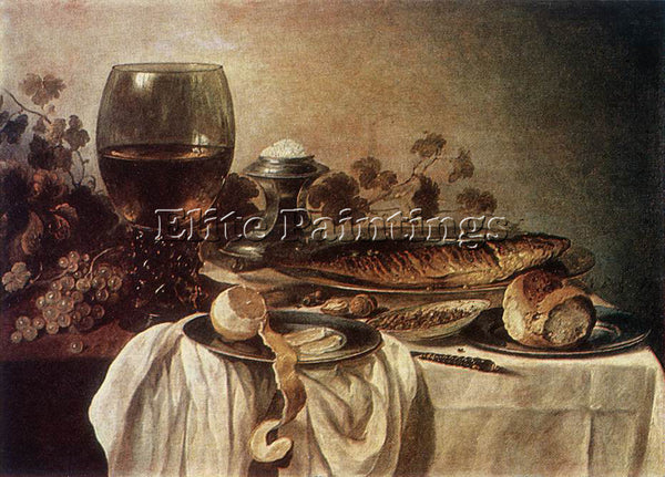 PIETER CLAESZ BREAKFAST PIECE ARTIST PAINTING REPRODUCTION HANDMADE CANVAS REPRO