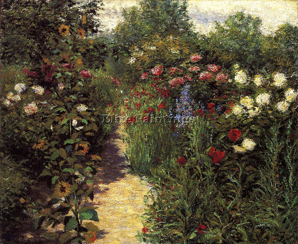 AMERICAN BRECK JOHN LESLIE GARDEN AT GIVERNY ARTIST PAINTING HANDMADE OIL CANVAS