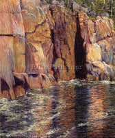 AMERICAN BRECK JOHN LESLIE THE CLIFFS AT IRONBOUND ISLAND MAINE ARTIST PAINTING