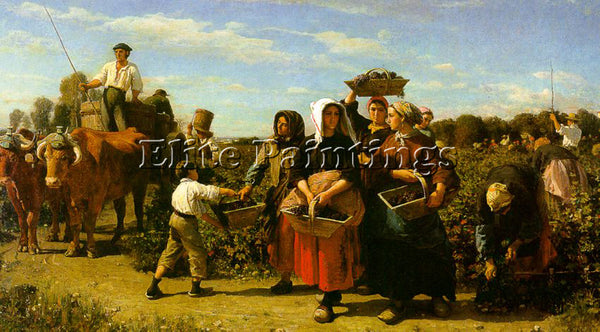 FRENCH BRETON JULES FRENCH 1827 1906 ARTIST PAINTING REPRODUCTION HANDMADE OIL