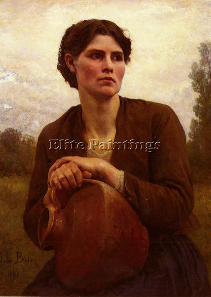 JULES BRETON THE WATER CARRIER ARTIST PAINTING REPRODUCTION HANDMADE OIL CANVAS
