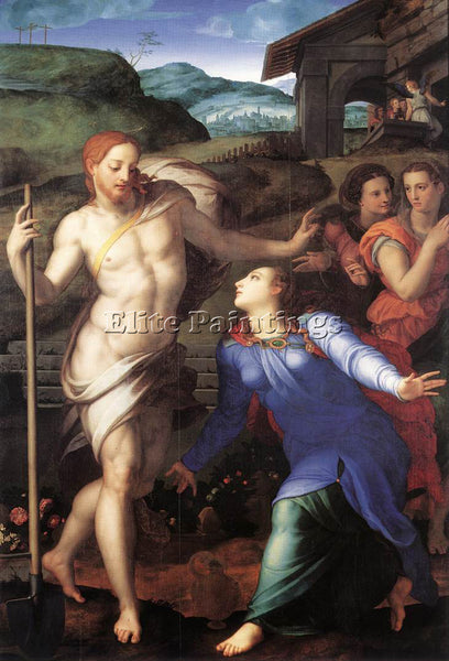 AGNOLO BRONZINO NOLI ME TANGERE ARTIST PAINTING REPRODUCTION HANDMADE OIL CANVAS