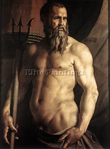 AGNOLO BRONZINO PORTRAIT OF ANDREA DORIA AS NEPTUNE ARTIST PAINTING REPRODUCTION