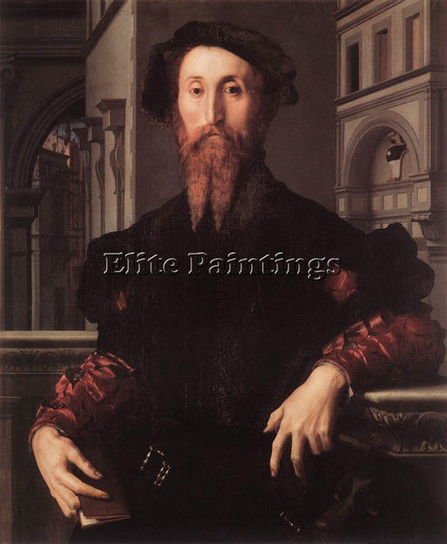 AGNOLO BRONZINO PORTRAIT OF BARTOLOMEO PANCIATICHI ARTIST PAINTING REPRODUCTION