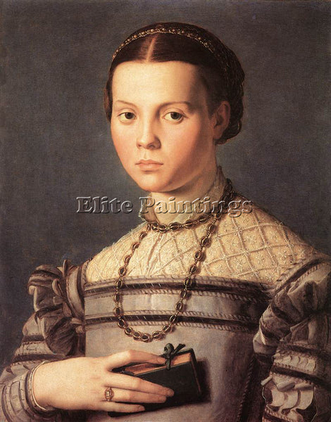 AGNOLO BRONZINO PORTRAIT OF A YOUNG GIRL ARTIST PAINTING REPRODUCTION HANDMADE