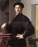 AGNOLO BRONZINO PORTRAIT OF A YOUNG MAN ARTIST PAINTING REPRODUCTION HANDMADE