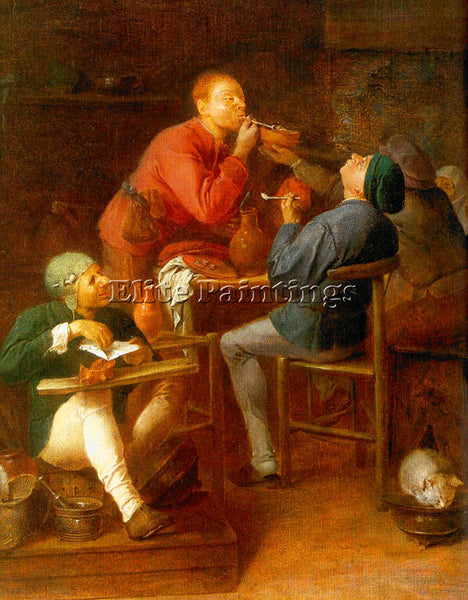 ADRIAEN BROUWER 28SMOKE ARTIST PAINTING REPRODUCTION HANDMADE CANVAS REPRO WALL