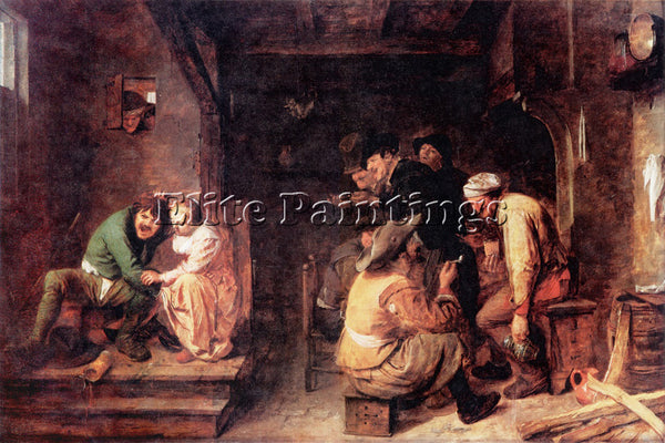 ADRIAEN BROUWER 30TAVERN ARTIST PAINTING REPRODUCTION HANDMADE CANVAS REPRO WALL