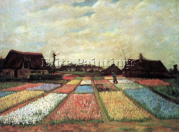 VAN GOGH BULB FIELDS ARTIST PAINTING REPRODUCTION HANDMADE OIL CANVAS REPRO WALL
