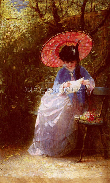 HOLLAND BURGER HENDRICUS JACOBUS YOUNG GIRL READING ARTIST PAINTING REPRODUCTION