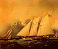 AMERICAN BUTTERSWORTH JAMES E UNDER FULL SAIL ARTIST PAINTING REPRODUCTION OIL