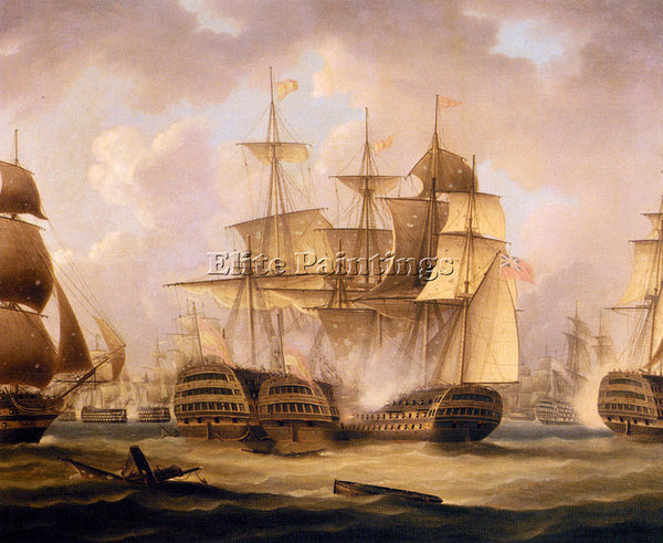 BRITISH BUTTERSWORTH THOMAS THE BATTLE OF CAPE ST VINCENT FEBRUARY 14 ARTIST OIL