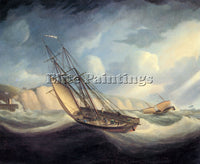 BRITISH BUTTERWORTH THOMAS THE RAPID SCHOONER AND DEAL LUGGER PAINTING HANDMADE