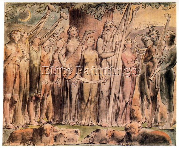 WILLIAM BLAKE BLAK22 ARTIST PAINTING REPRODUCTION HANDMADE OIL CANVAS REPRO WALL