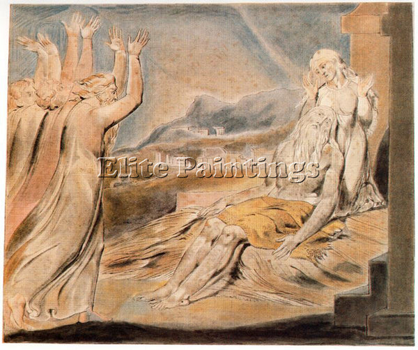 WILLIAM BLAKE BLAK25 ARTIST PAINTING REPRODUCTION HANDMADE OIL CANVAS REPRO WALL