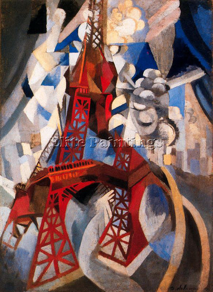 ROBERT DELAUNAY DELA5 ARTIST PAINTING REPRODUCTION HANDMADE OIL CANVAS REPRO ART