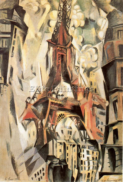 ROBERT DELAUNAY DELA6 ARTIST PAINTING REPRODUCTION HANDMADE OIL CANVAS REPRO ART