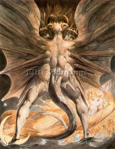 WILLIAM BLAKE BLAK31 ARTIST PAINTING REPRODUCTION HANDMADE OIL CANVAS REPRO WALL