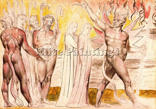 WILLIAM BLAKE BLAK32 ARTIST PAINTING REPRODUCTION HANDMADE OIL CANVAS REPRO WALL