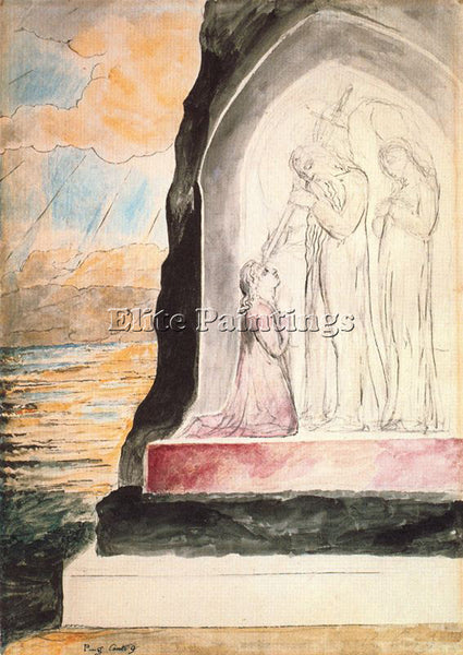WILLIAM BLAKE BLAK33 ARTIST PAINTING REPRODUCTION HANDMADE OIL CANVAS REPRO WALL