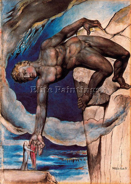 WILLIAM BLAKE BLAK34 ARTIST PAINTING REPRODUCTION HANDMADE OIL CANVAS REPRO WALL