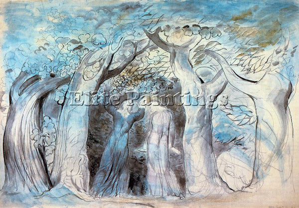 WILLIAM BLAKE BLAK35 ARTIST PAINTING REPRODUCTION HANDMADE OIL CANVAS REPRO WALL
