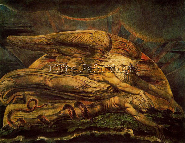 WILLIAM BLAKE BLAK36 ARTIST PAINTING REPRODUCTION HANDMADE OIL CANVAS REPRO WALL