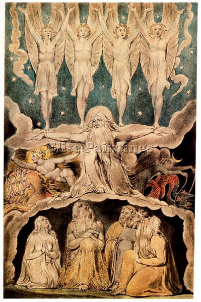 WILLIAM BLAKE BLAK37 ARTIST PAINTING REPRODUCTION HANDMADE OIL CANVAS REPRO WALL