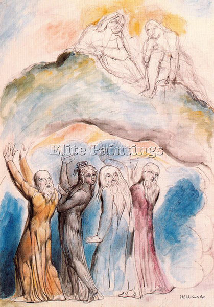 WILLIAM BLAKE BLAK38 ARTIST PAINTING REPRODUCTION HANDMADE OIL CANVAS REPRO WALL