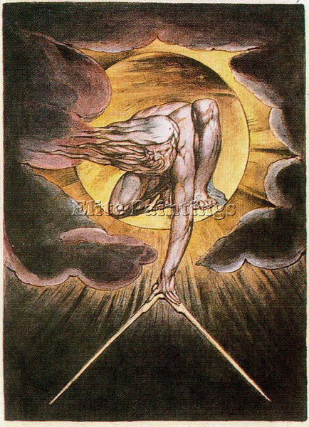 WILLIAM BLAKE BLAK40 ARTIST PAINTING REPRODUCTION HANDMADE OIL CANVAS REPRO WALL