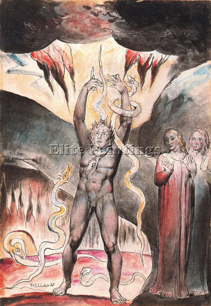 WILLIAM BLAKE BLAK43 ARTIST PAINTING REPRODUCTION HANDMADE OIL CANVAS REPRO WALL