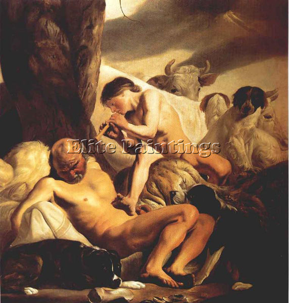 HOLLAND CAMPEN JACOB VAN MERCURY ARGUS AND IO ARTIST PAINTING REPRODUCTION OIL