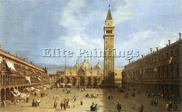 CANALETTO  PIAZZA SAN MARCO 1730 ARTIST PAINTING REPRODUCTION HANDMADE OIL REPRO