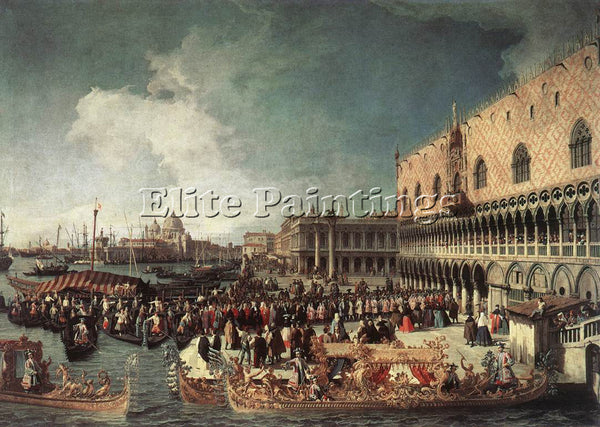 CANALETTO  RECEPTION OF THE AMBASSADOR IN THE DOGES PALACE ARTIST PAINTING REPRO